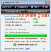 BatteryCare Portable 0.9.27 captura de pantalla