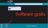 Mzip Windows 10 4.9 captura de pantalla